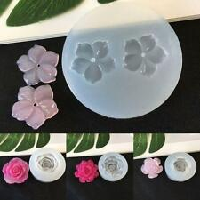 Silicone 3D Flower Moulds Mold Resin Jewelry Pendant Making Tool US