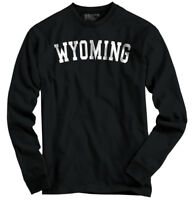 Wyoming State Shirt Athletic Wear USA T Novelty Gift Ideas Long Sleeve Tee