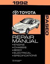 1992 Toyota Paseo Shop Service Repair Manual