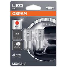 OSRAM LEDriving P21W Red LED Brake Light Bulbs 7456R-02B (Twin Pack)