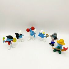 Lot of 6 Smurfs 3� Action Figures Vexy Brainy Farmer Hefty Vanity Painter