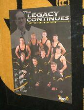Vtg 1997 University of Iowa Hawkeyes Wrestling Legacy Continues Basics Poster
