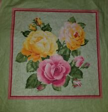 """16"""" Accent Pillow Sham Cover Victorian Blooming Rose Roses Floral Flower Garden"""