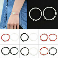 Simple 2Pcs Handmade Anklets Adjustable Rope Lucky Ankle Bracelet Jewelry Charm