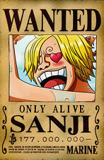 One Piece WANTED Poster (A3: 27 x 41 cm) - SANJI – Last Bounty!