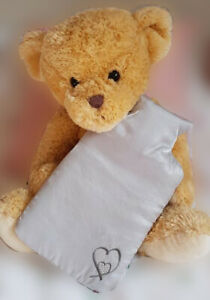 Hot Water Bottle Swarovski Elements  and Cover Gift Boxed with Kitty Handwarmer