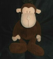 "17"" MANHATTAN TOY CO 2009 BROWN BABY MONKEY STUFFED ANIMAL PLUSH SOFT SEWN EYES"
