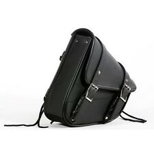 Motorcycle Swing Arm Bag Solo Black - Left Side Bag