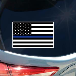 Thin Blue Line American Flag sticker OG decal police law enforcement LE