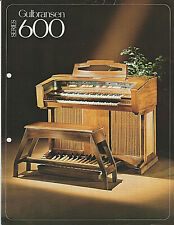 More details for undated vintage leaflet for the gulbransen 600 organ - rare copy