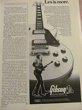 Ron Wood, The Rolling Stones, Gibson Guitars, Vintage Promotional Ad