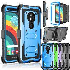 For Motorola Moto E5 Play/Cruise/GO Clip Holster Case Built in Screen Protector