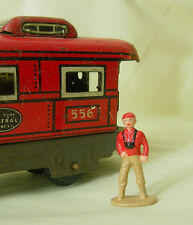 Little boy with camera, O scale tinplate model train layout figure, Reproduction