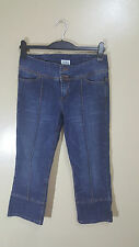 ladies 3/4 length jeans topshop moto size uk 12 euro 40
