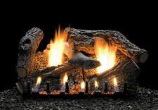 """Empire Super Sassafras Logs 7pc18"""" Refractory Slope Glaze Burner Vent Free Ip Ng"""