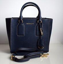 MICHAEL KORS Damen Tasche SELBY MD SATCHEL Saffiano Leder Farbe: navy