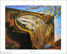 Salvador DALI Clock Explosion Surrealist Poster 11 x 14