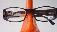 Brille grau braun Kunststoff Damen mit breiten Bügeln rechteckig stabil Gr S