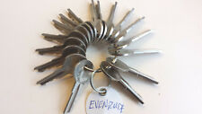 Evinrude-Outboard-Motor-Boat-Keys-Master-Set-Lot of 17 Common keys-51 to 67