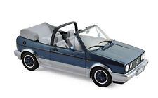 """Model Car 1:18 VW Golf Cabriolet """"Bel Air """" 1992 Blue Metallic Norev 188404"""