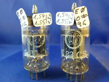 Matched pair e83cc/12ax7wa siemens # near nos # trimica # same codes (10080a)