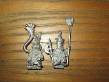 Warhammer Fantasy Chaos Dwarf Command Standard and Musician metal OOP