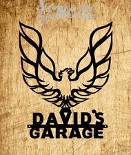 Firebird Personalized Garage Trans Am Pontiac  Metal Logo - Black 2