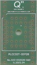 Płytka PLCC32T na podstawkę DIP28 0.6 cala. [PL]