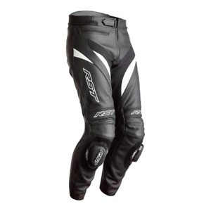 RST Tractech Evo 4 CE Black White Leather Motorcycle Trouser