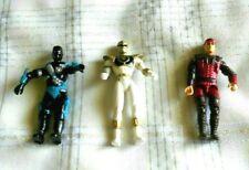 Lot of 3 AF's Saban's Power Rangers White Ranger 4in. Action Figure Bandai 1995