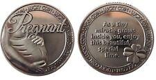 Pregnant Pregnancy Lucky Coin Pewter Token Keepsake Capsulated