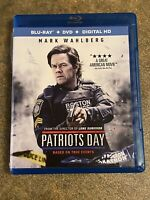 LIKE NEW—Patriots Day (Blu-ray+Dvd, 2017, 2-Disc Set)Mark Wahlberg FREE SHIPPING