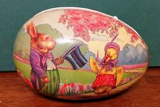 Vintage German Litho Paper Mache Easter Egg Echt Erzgebirge Candy Doll Container