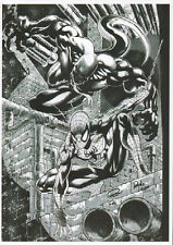 ** SIGNED PRINT** SPIDER & VENON ON GLOSSY PAPER A4 - BY RON ADRIAN AND ROB LEAN