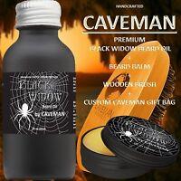 Hand Crafted Caveman® Beard Oil Set KIT Beard Oil + Balm FREE  Beard Brush