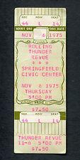 1975 Bob Dylan Rolling Thunder Revue unused concert ticket Springfield Ma Desire