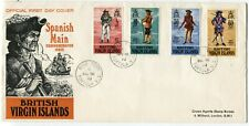 British VIRGIN ISLANDS #229-232 PIRATES FDC First Day Cover Stamps Postage 1970