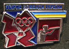 LONDON 2012 Olympic UKRAINE NOC SHOOTING  team - delegation pin   Very RARE