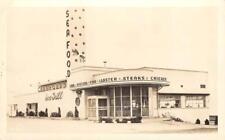 RPPC CRAWFORD'S Seafood Restaurant Roadside Diner Seattle, WA ca 1940s Postcard