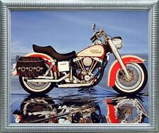 Harley Davidson Electra Glide Vintage Motorcycle Wall Decor Art Framed Picture