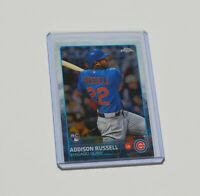2015 Topps Chrome Refractors Chicago Cubs Baseball Card #24 Addison Russell