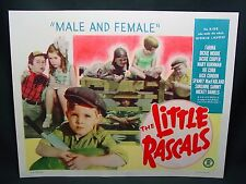 Antique 1951 Little Rascals Lobby Card Our Gang Male & Female Movie Poster Litho