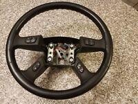 ✅ OEM Black Leather Steering Wheel silverado Chevy GMC