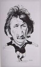 """Tane Norton New Zealand alle schwarz Karikatur drucken 16x12"""" (41x30cm) Rückspiegel"""