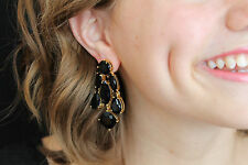 KATE SPADE NEW YORK RIDICULOUSLY GORGEOUS BLACK CHANDELIER DROP EARRINGS