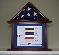 3 X 5 SAPELE DOCUMENT FLAG DISPLAY CASE FRAME CAPITAL AMERICAN US MILITARY BOX