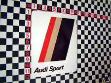 Nice 80's Sticker for Audi Quattro 80 90 Coupe GT Sport
