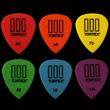 6 X Dunlop Tortex Iii Guitar Picks plectrums Tortex hasta - 1 de cada tipo