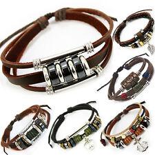 El tíbet serie 33! pulsera de cuero bracelet Leather unisex! pulsera de estilo surfista señores señora