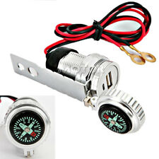 Motorcycle USB Charger W/ Compass For Kawasaki VN Vulcan 1500 1600 1700 800 900
